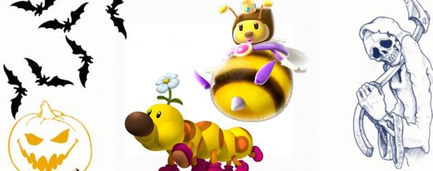 Wiggler et honey queen dans mario kart 7 brain damaged - Personnage mario kart 7 ...