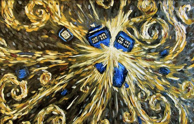 Van Gogh Starry Night Tardis Starry Night Tardis Explosion
