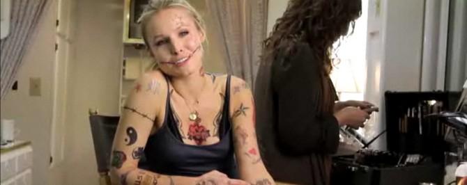 Les 223 tatouages de Kristen Bell   Brain Damaged