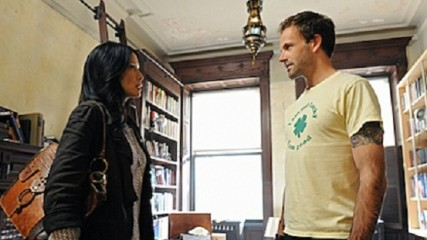 Pilot-- Jonny Lee Miller (right) stars as Sherlock Holmes and Lucy Liu (left) stars as Watson on the new television series ELEMENTARY, premiering Thursdays, 10pm ET/PT this Fall on the CBS Television Network. Photo: David M. Russell/CBS©2012 CBS Broadcasting, Inc. All Rights Reserved