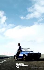 Paul Walker affiche Fast & Furious 6