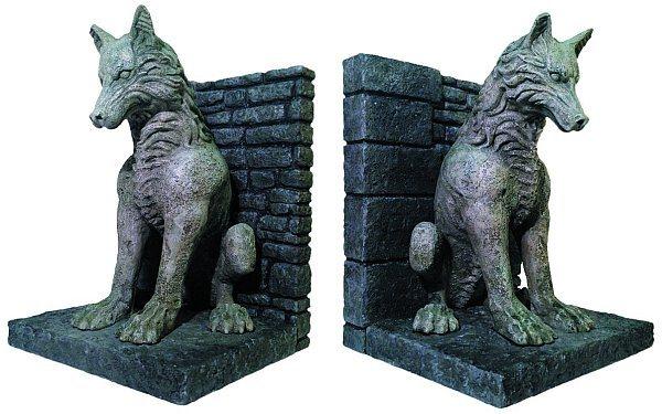 Serre-livres loups géants de Game of Thrones en vente | Brain Damaged