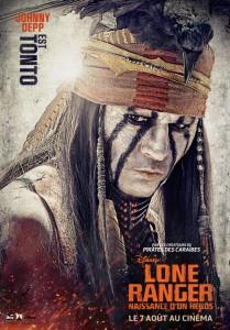 Johnny Depp dans Lone Ranger.