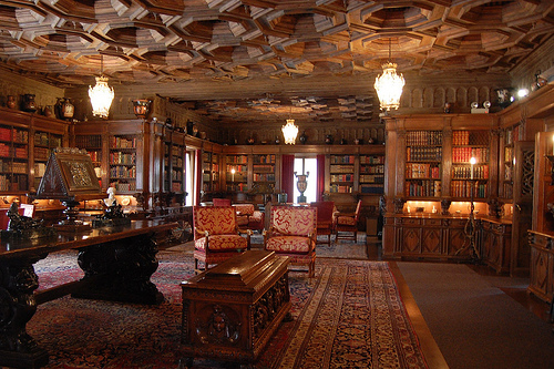 Hearst Castle Library interior