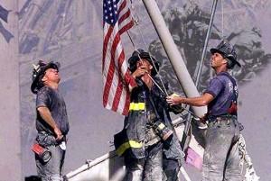 11 sepetembre pompier drapeau dossier brain damaged