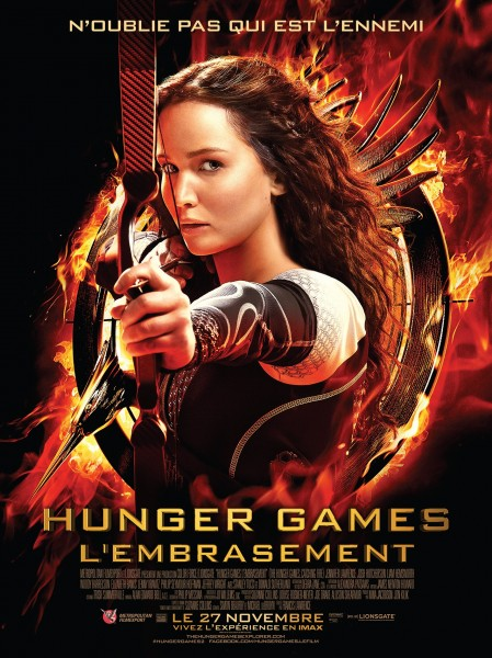 Hunger Games l?embrasement : affiche définitive et featurette - Affiche