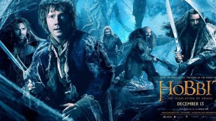 Le Hobbit La désolation de Smaug : Nouvelle bannières - Bilbo et la compagnie des nains