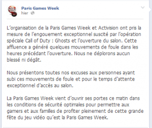 Mea Culpa Paris Games Week