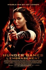 Sorties Cinéma du 27 Novembre 2013 -  Affiche Hunger Games L'embrasement