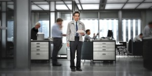 la vie revée de walter-Ben-Stiller-seul au bureau