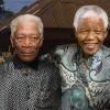 Nelson Mandela : hommages de Elba, Freeman et Haysbert - Morgan Freeman et Nelson Mandela