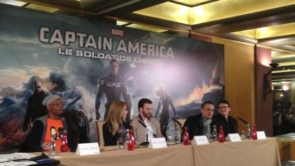 Conférence de presse Captain America une