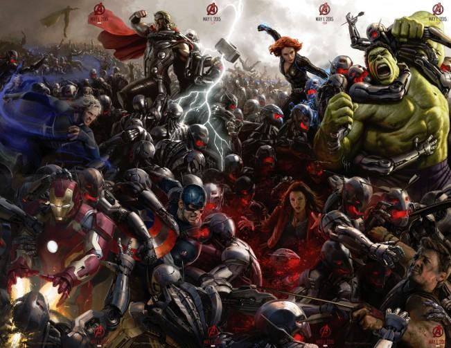 Avengers Age of Ultron : Fresque complète avec Hulk et Thor