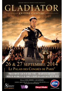 Ciné concert gladiator affiche