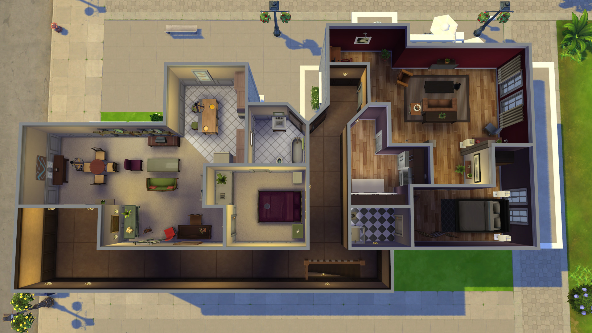 plan appartement sims 4