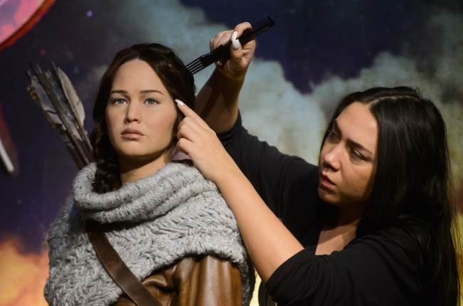 The Hunger Games' Katniss Everdeen's Wax Figure revealed at Madame Tussauds London, Britain - 18 Dec 2014