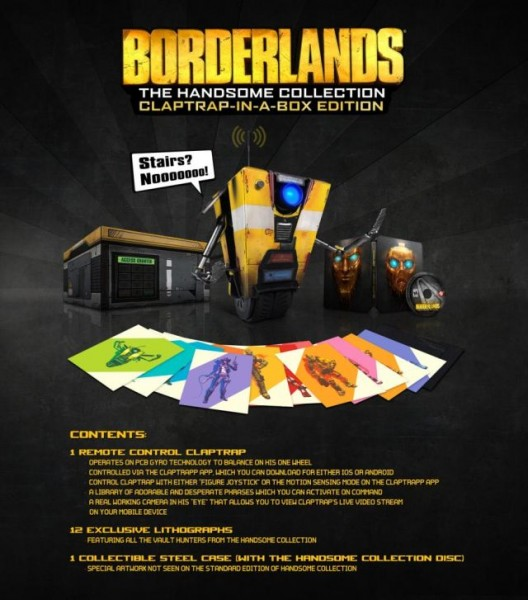 borderlands handsome collection clap trap