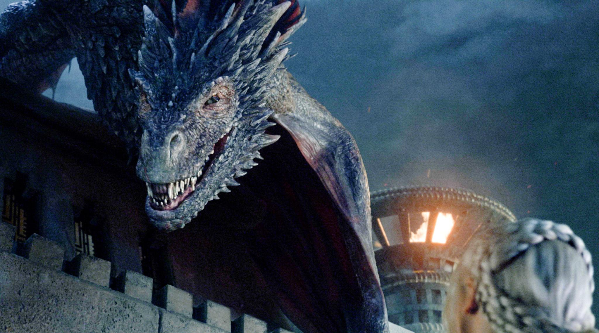 game of thrones saison 5 le making of des dragons vid o brain damaged. Black Bedroom Furniture Sets. Home Design Ideas
