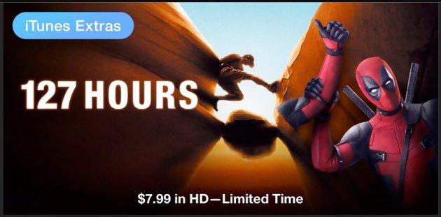Deadpoolle super-héros s'incruste dans les affiches de ses collègues 127 heures