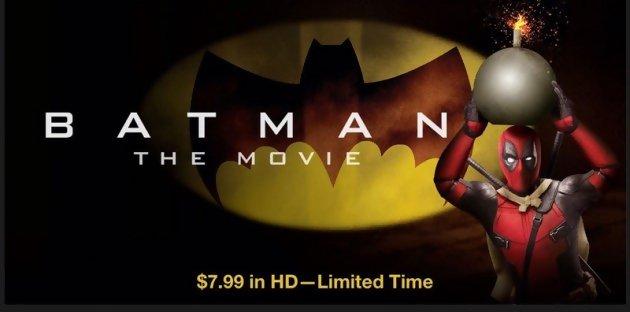 Deadpoolle super-héros s'incruste dans les affiches de ses collègues Batman