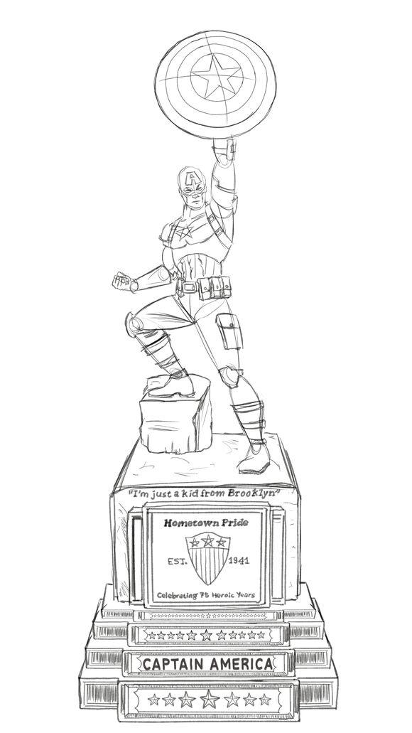 captain-america-statue-new-york-dessin