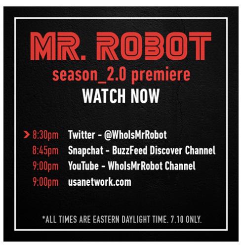 Mr. Robot orchestre le leak du premier épisode de la saison 2