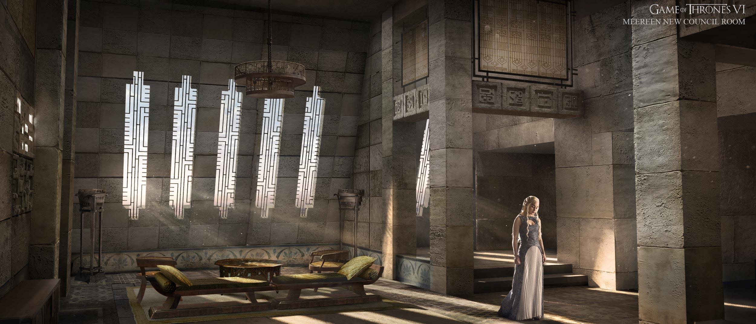 Game of thrones saison 6 d couvrez les concepts arts for Chambre de conseil