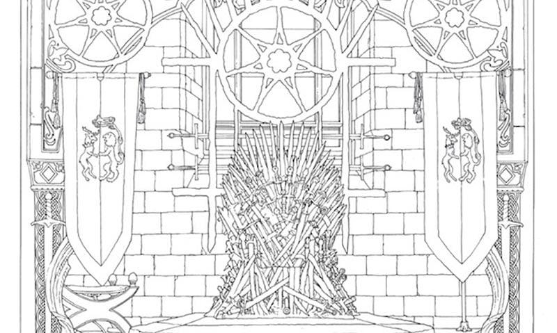 Game Of Thrones Second Livre De Coloriage Officiel En