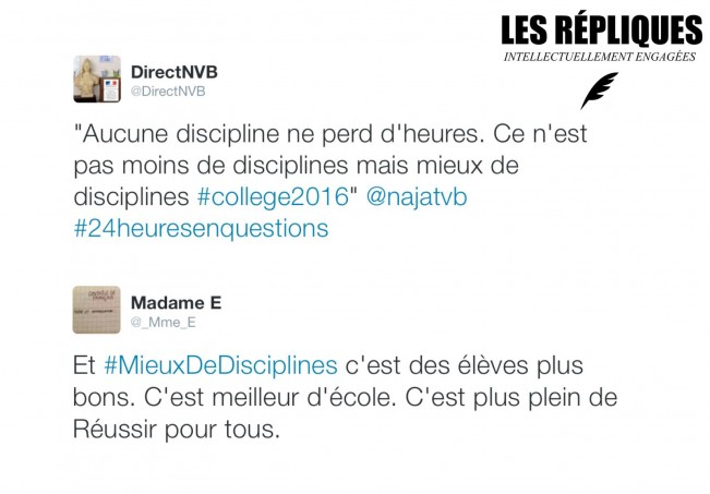 Tweet NVB Réforme