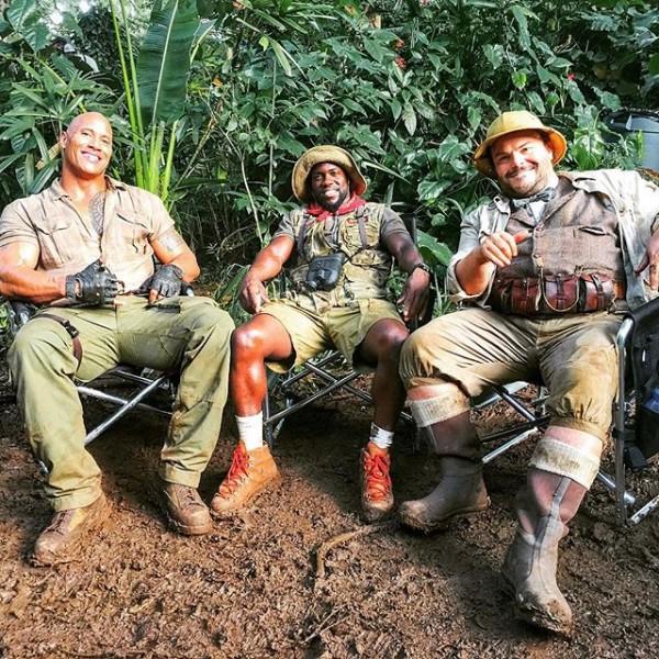 Jumanji premières images du tournage Photo Dwayne Johnson