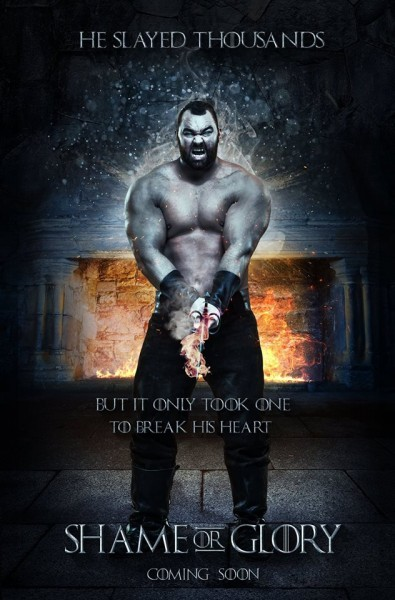 Shame or Glory pub game of thrones  the mountain