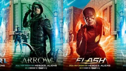 supergirl-flash-arrow-legends-les-affiches-du-crossover-une