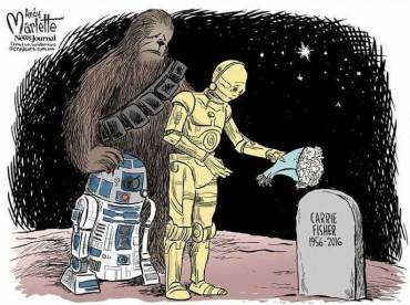 Carrie Fisher : L'hommage en dessins à la Princesse Leia
