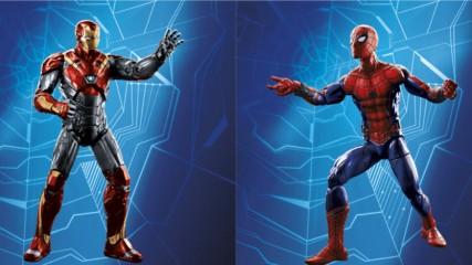 Spider-Man-Homecoming -nouveau-costume-pour-Iron-Man-d-après-les-figurines-une
