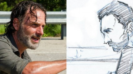 the-walking-dead-saison-7-pourquoi-rick-sourit-et-storyboards-de-lepisode-9-une