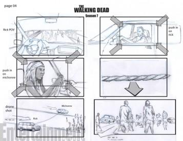 The Walking Dead saison 7 - Storyboards de l'épisode 9