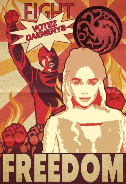 Brain-Présidentielle-affiche-daenerys-targaryan