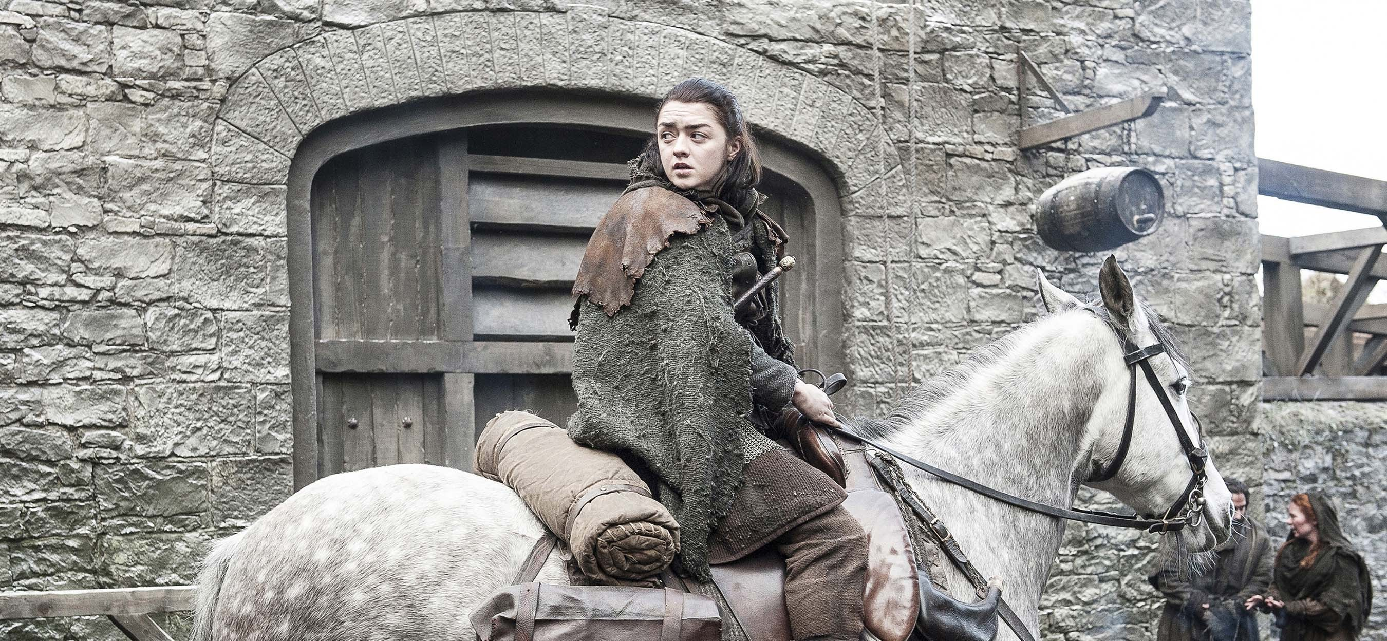 game of thrones saison 7 retrouvailles entre arya et nymeria brain damaged. Black Bedroom Furniture Sets. Home Design Ideas