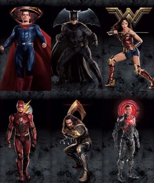 Justice-League-affiches-personnages