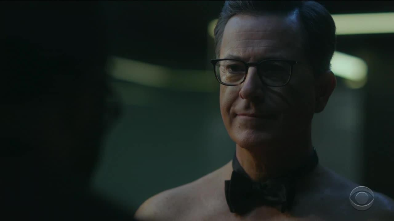westworld stephen colbert se prend pour un h te dans une parodie vid o brain damaged. Black Bedroom Furniture Sets. Home Design Ideas