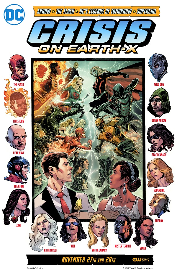 arrow-flash-supergirl-legends-dctv-crossover-crisis-on-earth-x-affiche