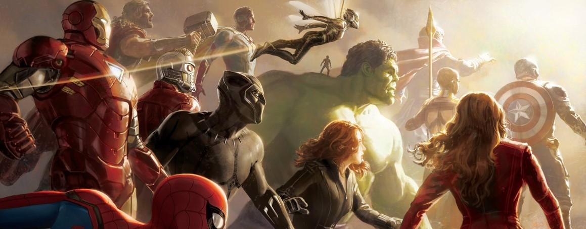 avengers infinity war   un concept art et le poster imax