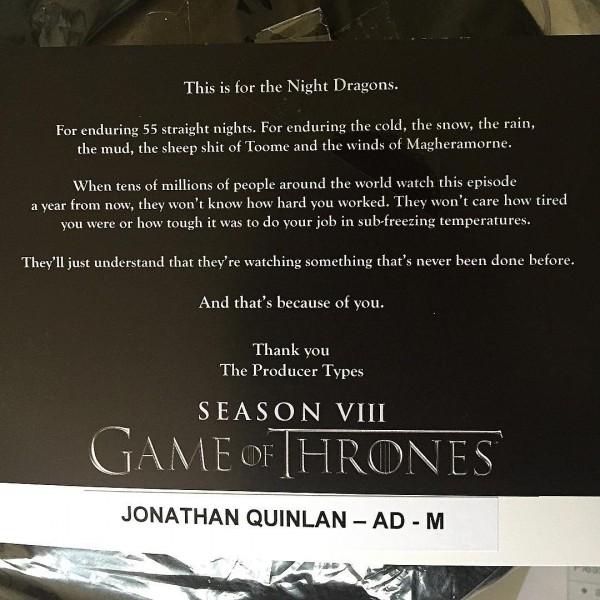Une bataille énorme se prépare pour la saison 8 — Game of Thrones