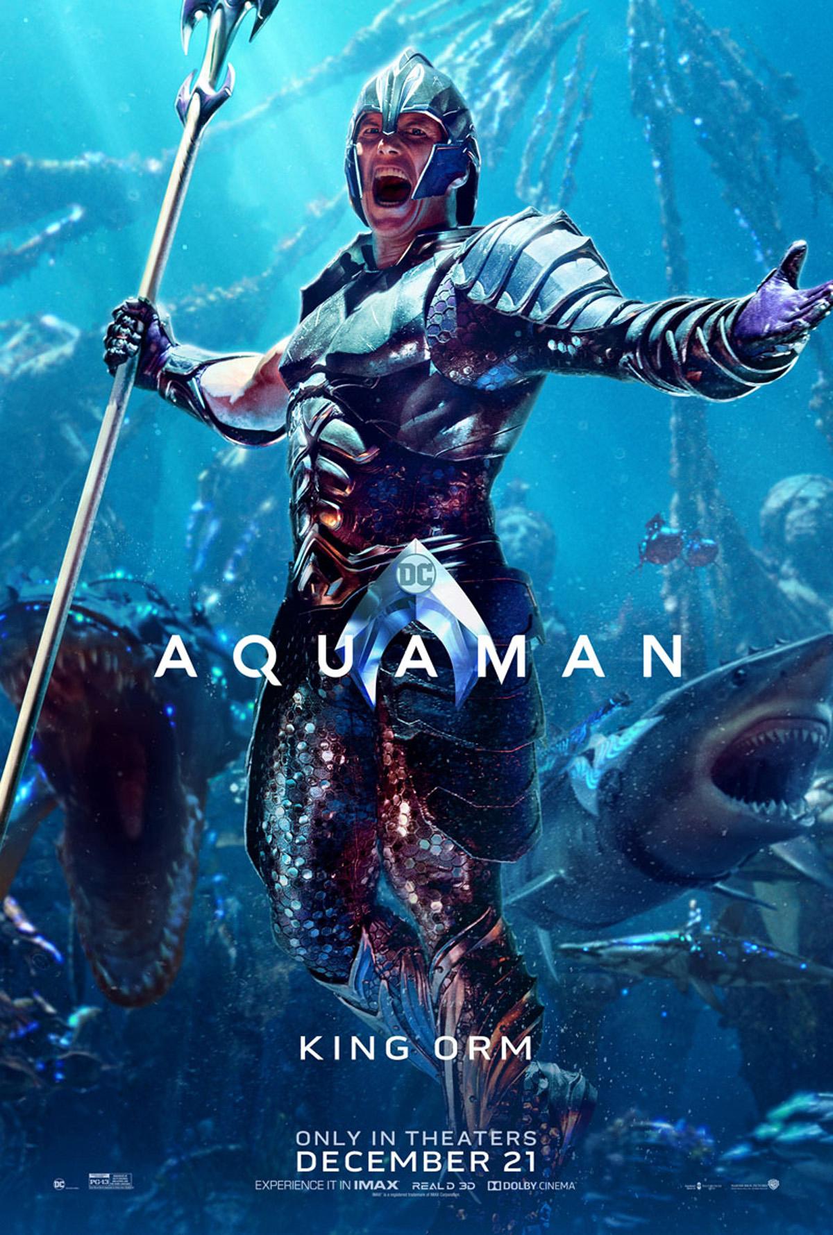 Aquaman : Les Personnages Se Dévoilent En Affiches