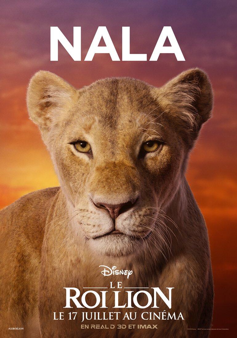 le roi lion   les personnages en affiches