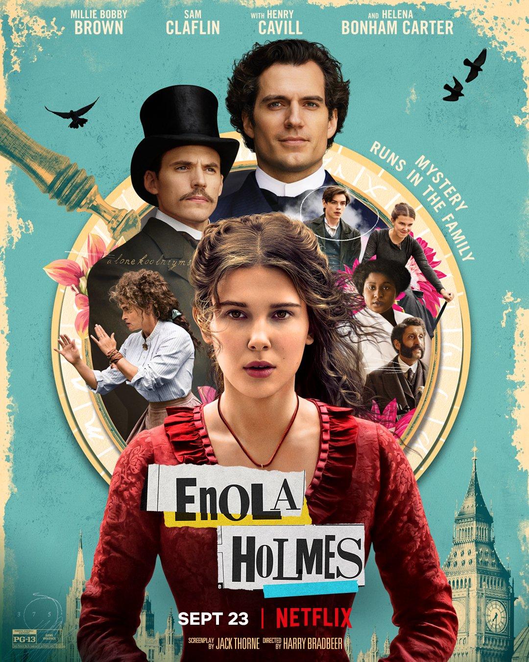 Enola Holmes : Millie Bobby Brown en petite sœur de Sherlock (bande-annonce)